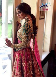 Details about Pink Lehenga Choli Designer Indian Ethnic Lengha Chunri Sari Bridal Wedding Wear - Indian Haute Couture - Indian Bridal Lehenga, Indian Bridal Outfits, Indian Bridal Wear, Pakistani Bridal Dresses, Indian Dresses, Indian Wedding Dresses, Sabyasachi Lehenga Bridal, Lehenga Wedding, Indian Reception Outfit