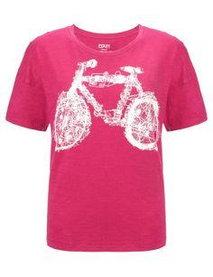 Fuchsia Cotton Bicycle Tee | Edun | Avenue32 Please check out World of Cycling
