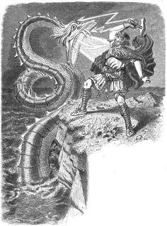 Thor battles the Midgard Serpent by Emil Carl Doepler 'The Elder'