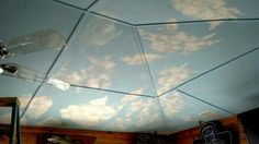 Ceiling mural by Handpainted by Tammy 865-254-6514