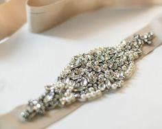 Pearls Crystal Champagne Wedding Sashes, Vintage Bridal Sash, Luxury Pearls Crystal Wedding Bridal Belt