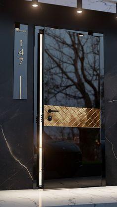 Flush Door Design, Door Design Interior, Main Door Design, Front Door Design, Exterior Design, Modern Wooden Doors, Modern Front Door, Wooden Door Design, Art Deco Door
