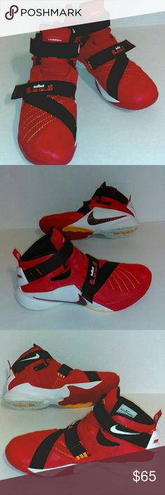 9e50574aaa8 LeBron James by Nike Men s Size 12 Red Black Well taken care of pair of
