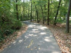 Mount Vernon Trail starts in Washington D.C. & goes through Alexandria, VA, beautiful wooded countryside and all the way to George Washington's home.