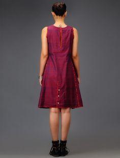 Purple Ikat Cotton Dress