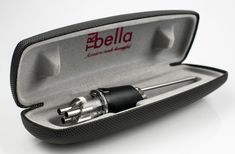 The TRIbella Classic in its sleek new carrying case, for on-the-go wine aeration. {Photo by Isaias Sanchez}