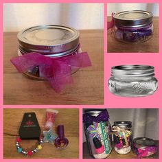 Mini Mani in a Jar $5 for your little princess! Includes kid friendly manicure accessories and a Paparazzi Starlet Shimmer children's bracelet or ring! Add more children's jewelry for $1 each! Facebook.com/chandrasparkleshine