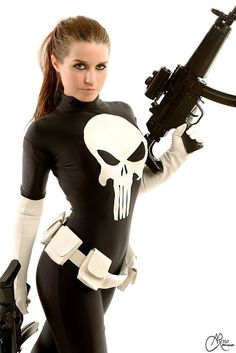 punisher woman cosplay by_joulii91