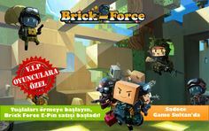 #Brick-Force #Game Sultan'da! Brick-Force Token'ları artık Game Sultan'dan alabilirsiniz! Comic Books, Games, Brick, Gaming, Bricks, Cartoons, Comics, Comic Book, Plays