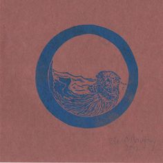 This o monogram linocut features an adorable otter. It is printed in blue or pale teal. This is an open edition print on Japanese kozo washi (or