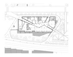Image 55 of 147 from gallery of Cultural Centers 50 Examples in Plan and Section via AREA PROGETTI + + Andrea Michelini + Laura Ceccarelli - architecture Cultural Architecture, Layered Architecture, Museum Architecture, Education Architecture, Commercial Architecture, Architecture Plan, Architecture Collage, Landscape Architecture, The Plan