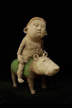 Art Sculpture, Garden Sculpture, Ceramic Sculptures, Clay Art, Ceramic Art, Legrand, Outdoor Decor, House Ideas, Pictures