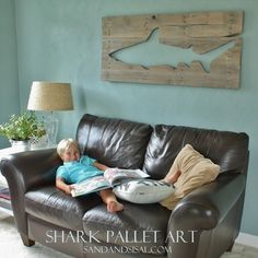Mark could totally make this out of metal for the boy's room or your mom could make this out of wood in probably a few hours!  Love it!