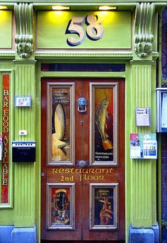Restaurant with a lot of color in Dublin - Ireland - ASPEN CREEK TRAVEL - karen@aspencreektravel.com