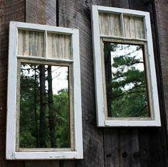 des miroirs pour agrandir le jardin