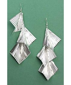 Woman's Silver Color Fashionable Earring Set - ACCESSORIES