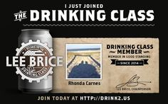 Join Lee Brice's Drinking Class at http://drink2.us/