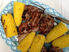 Grilled Pork Tenderloin with Corn on the Cob from Food Network via Taking On Magazines