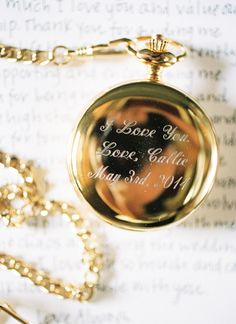 pocket watch gift for the groom | Nancy Ray