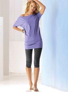 Comfy soft shirt  capri leggings.