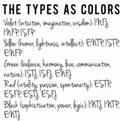 Describing the MBTI Types as Colours- Rainbow types. Enfp Personality, Personality Psychology, Myers Briggs Personality Types, Psychology Quotes, Infj Type, Intj And Infj, Intp Relationships, Mbti Functions, Myers Briggs Personalities