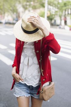 {damsel in dior // red jacket}
