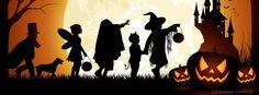 Halloween Silhouette Treats Facebook Cover