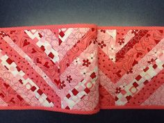 Valentine Quilted Table Runner by Clothstitched on Etsy