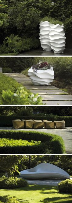 garten accessoire ideen moderne blumenk bel wei design garden arranging ideas pinterest. Black Bedroom Furniture Sets. Home Design Ideas