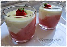 250 g Erdbeeren 25 g Puderzucker  1 TL Zitronensaft 500 g Milch 200 g Sahne 60 g Zucker 80 g Weichweizen Griess  Erdbeeren mit Puderzucker und Zitronenaft in den Mixtopf geben und 10 Sek. / Stufe 5 ze