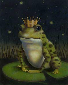 Frog stampa stampa principe ranocchio ritratto di CuriousPortraits