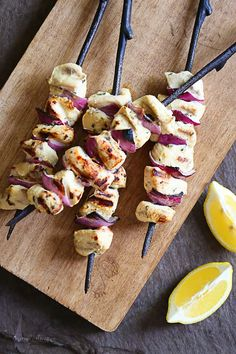 Grilled Lemon Dijon Chicken Skewers – a quick and easy weeknight dish!