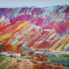 Les formations rocheuses colorées de Zhangye Danxia (Chine)
