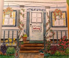 """Colorist Jackie Zoost  From Debbie Macomber's  """" Come Home to Color """". Done with Prismacolor pencils."""