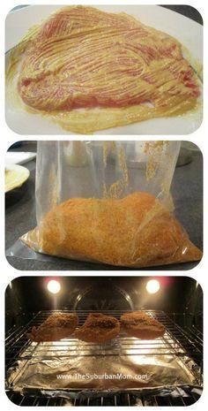 Shake 'N Bake Pork Chops Recipe | TheSuburbanMom #pork #chop #recipes