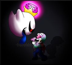 So guess who was playing Luigi's Mansion: Dark Moon the last couple of days? I found that there was an empty save file in my game, so I started playing . Fighting the Shadow King Boo, Weegee, Luigi's Mansion, Save File, Shading Techniques, Dark Moon, First Game, I Am Game, Sonic The Hedgehog