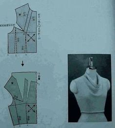 Chinese method of pattern making- Darts on a bodice - SSvetLanaV - Picasa Web Albums Bodice Pattern, Collar Pattern, Top Pattern, Dress Sewing Patterns, Blouse Patterns, Clothing Patterns, Pattern Cutting, Pattern Making, Sewing Collars