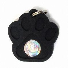 Silicone Pet ID Tag with Length of 35.2mm
