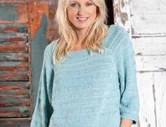 Описание вязания на спицах пуловера с чередованием узоров из журнала Burda…