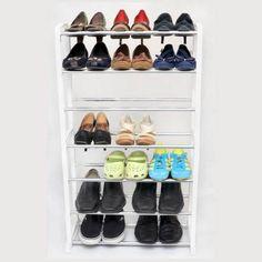 Sapateira Para Até 21 Pares De Sapato Em Aço Cromado - R$ 79,99