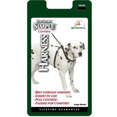 Sporn Pet DSP34581 Nylon Simple Control Dog Harness, Large/X-Large, Black >>> Continue to the product at the image link.