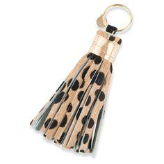 Large Cheetah Bag Tassel