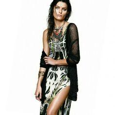 Vestido longo + Kimono #lookMorenaRosa #weloveit