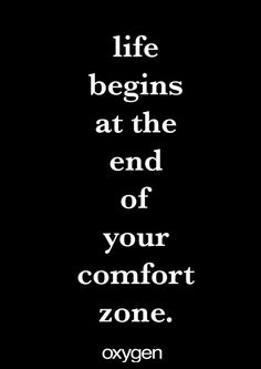 Life begins at the end of your comfort zone. #fitfriday #oygenmag