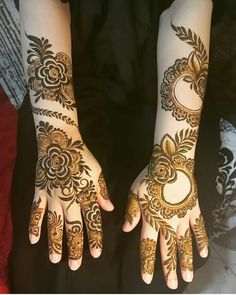 Latest Arabic Mehndi Designs, Latest Henna Designs, Floral Henna Designs, Henna Designs Feet, Back Hand Mehndi Designs, Beginner Henna Designs, Stylish Mehndi Designs, Wedding Mehndi Designs, Mehndi Designs For Fingers