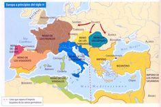 EUROPA A PRINCIPIOS DEL SIGLO VI: tras la desaparición en 476 del Imperio Romano de Occidente.