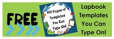 Subscriber Freebie: 100 Pages of FREE Lapbook Templates You Can Type On! | Free Homeschool Deals ©