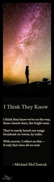 Poem: I Think They Know -- by Michael McClintock.