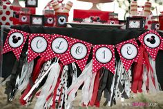 We Heart Parties: Party Information - Red Polka Dot Minnie Mouse Party