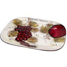 Classic Cucina Italiana Large Ceramic Scalloped Round 13 Inch Pasta